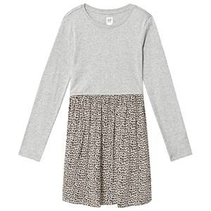 Image of GAP Leopard Dress Heather Grey XL (12-13 Years)