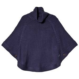 Tom Joule Cable Knit Tess Poncho Navy XS (1-2 years)