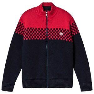 Paul Smith Junior Navy/Red Racing Stripe Zip Up Jacket 3 years