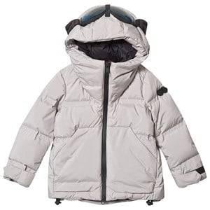 AI Riders on the Storm Grey Reflective Padded Goggle Hood Coat Ski jackets