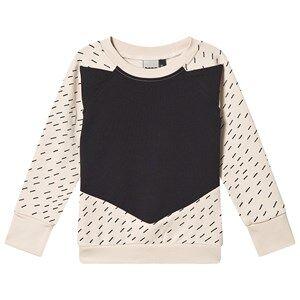Papu Rainy Days Fox Sweatshirt Cream and Black 86/92 cm