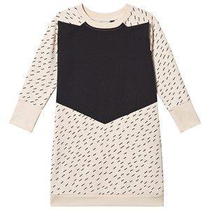 Papu Rainy Day Fox Dress Cream and Black 86/92 cm