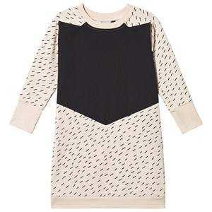 Papu Rainy Day Fox Dress Cream and Black 110/116 cm