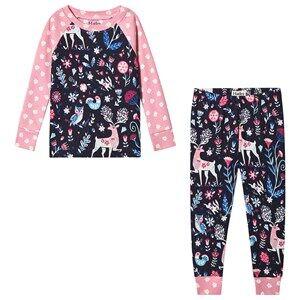 Hatley Nordic Forest Pajama Pink and Navy Pyjamas