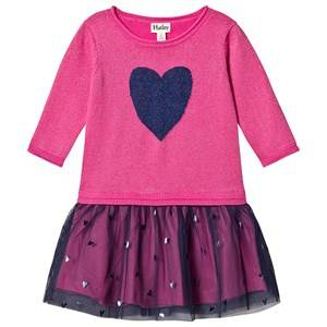 Hatley Shimmer Heart Tulle Dress Pink and Navy 2 years