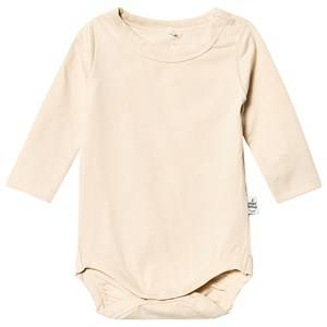 A Happy Brand Long Sleeve Baby Body Champagne 62/68 cm