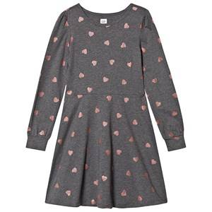 Image of GAP Heart Dress Heather Grey XL (12-13 Years)