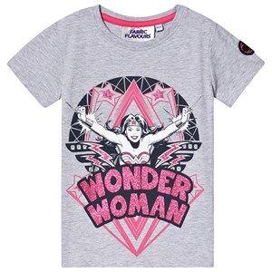Fabric Flavours Wonder Woman Glitter Tee Grey 6-7 years