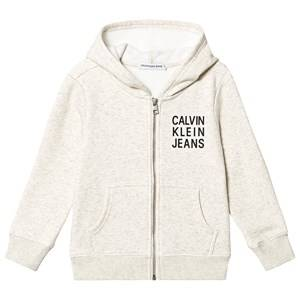 Image of Calvin Klein Jeans Soft Zip Hoodie White 4 years