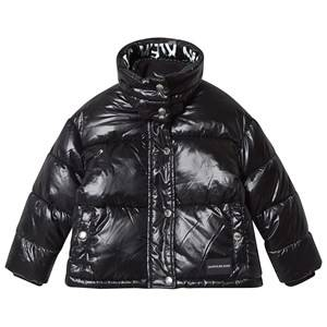 Image of Calvin Klein Jeans Branded Puffer Jacket Black 4 years
