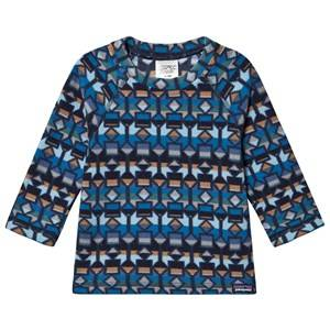 Patagonia Baby Micro D Fleece Baselayer Top Blue Print 5 years