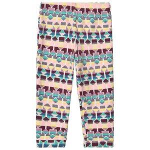 Patagonia Baby Micro D Fleece Baselayer Pants Pink Print 2 years