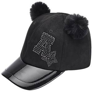 Image of Mayoral Diamante Pom Pom Cap Black Baseball caps