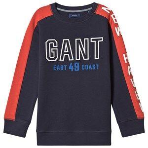 GANT Color Block Sweater Evening Blue 122-128cm (7-8 years)