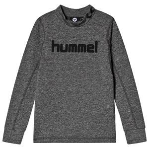 Image of Hummel Ask Long Sleeve Tee Medium Melange 128 cm (7-8 Years)