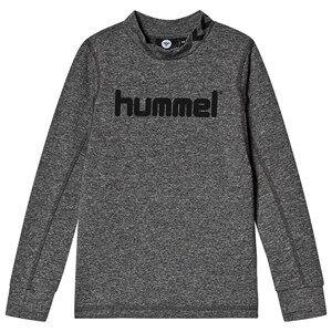 Image of Hummel Ask Long Sleeve Tee Medium Melange 122 cm (6-7 Years)