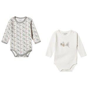 Fixoni 2-Pack Joy Baby Bodies Off White 80 cm (9-12 Months)