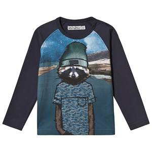 Minymo Space Animal T-Shirt Navy 80 cm (9-12 Months)