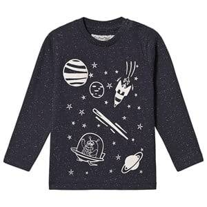Minymo Space T-Shirt Blue 86 cm (1-1,5 Years)