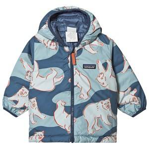 Patagonia Reversible Baby Jacket Wolly Blue and Polar Bears 4 years