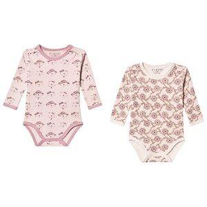 Fixoni 2-Pack Joy Baby Bodies Burnished Lilac 74 cm (6-9 Months)
