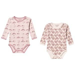 Fixoni 2-Pack Joy Baby Bodies Burnished Lilac 56 cm (1-3 Months)