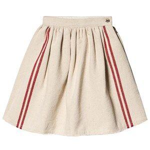 Creative Little Creative Factory Hessian Red Stripe Skirt Cream 2 years