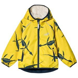 Muddy Puddles Ecosplash Jacket Yellow Ichthyosaurus Raincoats