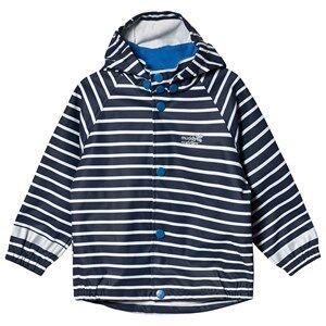 Muddy Puddles Rainy Day Jacket Navy/White Stripe Raincoats