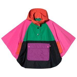 Stella McCartney Kids Color Block Hooded Rain Cape 5 years