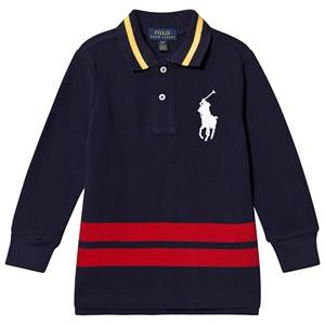 Ralph Lauren Big Logo Long Sleeve Polo Navy S (8 years)