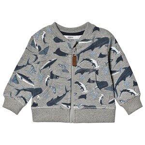 ebbe Kids Berkely Sweat Jacket Shark Print 62 cm (2-4 Months)