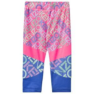 Kenzo Logo Baselayer Tights Neon Pink 3 years