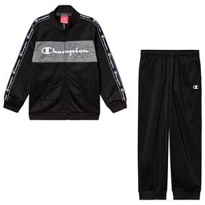 Champion Taped Sleeve Tracksuit Black 7-8 years