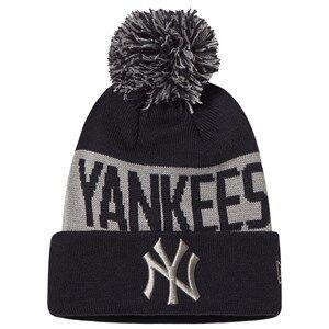 New Era New York Yankees Pom-Pom Beanie Black and Grey Beanies