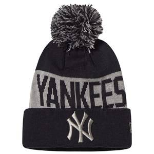 Image of New Era New York Yankees Pom-Pom Beanie Black and Grey Beanies