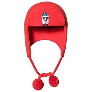 Poivre Blanc Polar Bear Peruvian Hat Red Trapper hats
