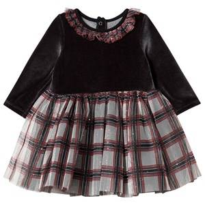 Image of Petit Bateau Dress Black/Red Check 36 Months