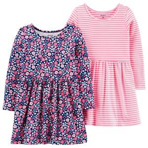 Image of Carters 2-Pack Jersey Dresses Pink 3 Years