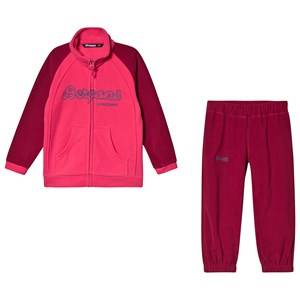 Image of Bergans Smdl Set Beet Red and Raspberry 104 cm (3-4 Years)