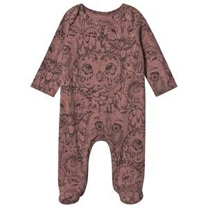 Image of Soft Gallery Owl Footed Baby Body Burlwood 9 Months