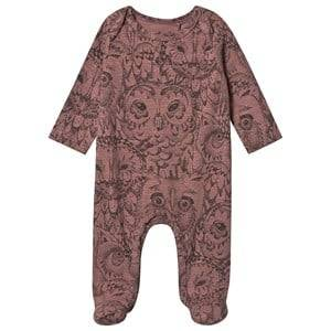 Image of Soft Gallery Owl Footed Baby Body Burlwood 12 months
