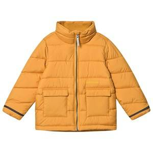 Didriksons Abborren Puff Jacket Yellow Orche 110 cm (4-5 Years)