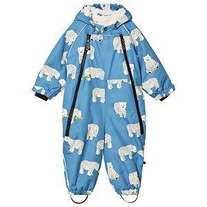 Smfolk Polar Bear Hooded overall Blue 6-12 months