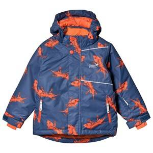 Muddy Puddles Blizzard Jacket Navy Lizard Ski jackets