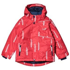 Muddy Puddles Blizzard Jacket Red Feathers Ski jackets
