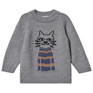 nadadelazos Anton the Cat Sweater Street Grey 12-18 Months