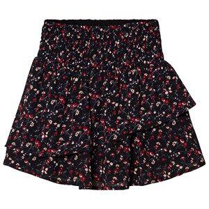 Creamie Printed Chiffon Skirt Black 140 cm (9-10 Years)