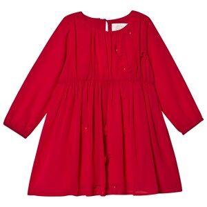 Creamie Chiffon Flowers Dress Crimson 98 cm (2-3 Years)