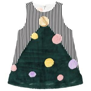 Wauw Capow X-Mas Dress Black and White Stripes 2-3 Years